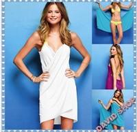 Free shipping solid Bikini dress, holiday Beach skirt casual dress free shipping swimwear