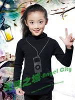 2013 children's clothing spring and autumn girls clothing 100% cotton thickening underwear basic shirt sweater 912