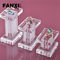 Free Shipping Delicate Design Plexiglass Marble Pillar Jewelry Display for Rings and Earrings Display