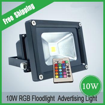 Outdoor Lighting 10W 20W 30W 50W RGB LED Floodlight with Black Housing Waterproof IP65 LED Spot Light Landscape Lamp