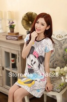 New Hot Summer Women Clothing Pajamas Cute Cartoon Home Skirt Sleepwear Free Size Free Shipping !