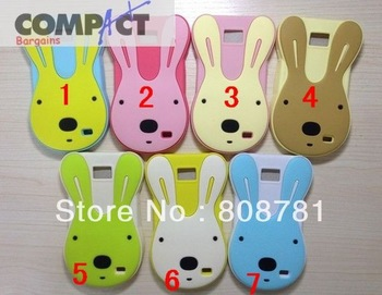 Cartoon Cute 3D Baby Rabbit Fashion Design phone Case For Samsung Galaxy S2 i9100+50pcs/lot Free shipping