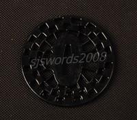 Black Round Alloy Tsuba for Sword Japanese Katana SJ056