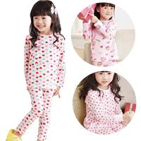 free shipping 2013 spring child female child 100% baby cotton underwear set lycra cotton thin lounge sleepwear clothing pants