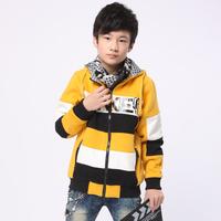 free shipping 2013 autumn male child fashion with a hood personality popular sweatshirt