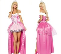 New arrive!!Free shipping pink sexy queen costumes,women asymmetric fancy dreess,women sexy costumes crown