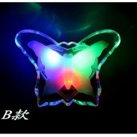 free shipping Double crystal colorful small night light baby care energy saving lamp
