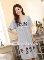 New Summer Women Clothing Cotton Sleepwear Maternity clothes Nursing Nightdress Free Size Free Shipping !