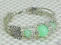 superexcellent tibet silver jade bracelet