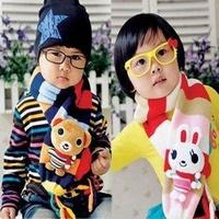2012 child double layer yarn cartoon doll scarf muffler scarf baby thermal scarf