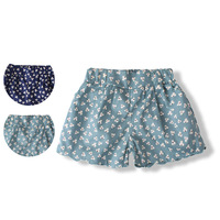 Children's clothing 2013 summer female child single-shorts child shorts print scalloped 100% baby cotton beach pants