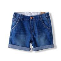 free shipping Children's clothing 2013 spring female child jeans pocket overlock child shorts baby shorts