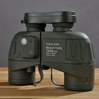 Binocular telescope the sirian 7x50l armour waterproof built-in compass ranging night vision infrared