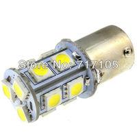 Freeshipping 50pcs 1156 13 SMD 5050 1156 1073 7527 BA15S LED White Light Bulb Turn Signal White Light Bulb Lamp 12V