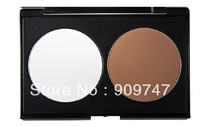 Free Shipping Women  2 colors Makeup Cosmetic Contour Shading Concealer Powder Palette 2 colors foundation palette
