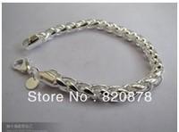 Wholesale Tibet tibetan miao silver hand carved Men `s twist bracelet fashion jewelry # 002