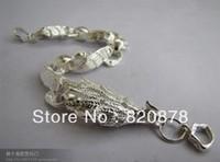Wholesale Tibet tibetan miao silver hand carved Men `s white phoenix bracelet fashion jewelry # 002