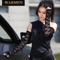 Summer women's long design lace sunscreen anti-uv thin gloves driving gloves uv001c