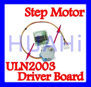 Free SHIPPING 3 Set/Lot =6 PCS /Lot 5V 4-phase 4-Phase 28YBJ-48 28BYJ48 Stepper Motor+ Driver Board ULN2003