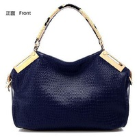 Маленькая сумочка Hot Sale New 2013 Fashion Designer Brand Handbags Luxury Crocodile Genuine Leather Shoulder Bags Women Messenger Bag Totes Y092