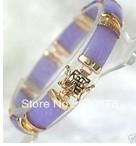 free shipping Stunning purple jade Jewellery bracelet bangle Fashion jewelry