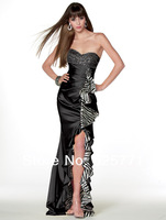 2013 New Hot style Hi-Lo Sexy Prom Graduation Dresses Sweetheart Beaded High Quality Party Cocktail Gown Custom Size