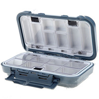 16 Compartments Waterproof Fishing Fish Lure Hook Bait Tackle Box Case - Color Assorted