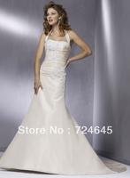 2013 Unique Champange Halter With Appliques Wedding Bridal Dresses Brildal Gown Dress Wedding Dress