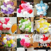 Wholesale 50Pcs/Lot 10inch Heart-shape Latex Helium Balloons Wedding Birthday Party  Holiday Decoration Ballon Kids Toy