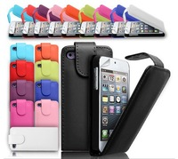 LEATHER FLIP CASE COVER & SCREEN PROTECTOR FOR iPhone 4 4S