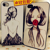 Feather dress aesthetic phone case  for apple   girl of the relief