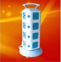 Grout portable type vertical tower socket 16 strips platooninsert four layers with an overload protection switch