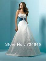 2013 New Desgin Stunning Green Ribbons SashesTaffeta Wedding Dresses Wedding Bridal Apparel For Free Shipping