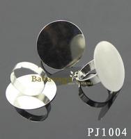 100pcs Adjustable Ring Base Blank Glue-on 25mm Round Free Shipping