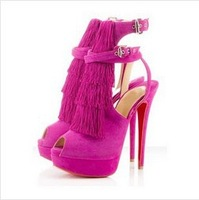 2013 new style  fashion high heel shoes  thick platform wedding  high heel sandals for women