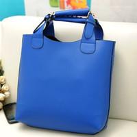 New Vintage Celebrity Women Handbag PU Leather Tote Shoulder Shopper Bag Mult 3 Colors Super Star Fashion B089