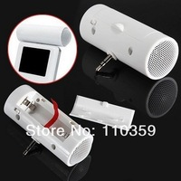 3.5mm Portable Mini Stereo Speaker Music Player For iPod iPhone Laptop MP3 MP4 free shipping