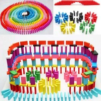 Wholesale Mix  colors 100pcs Wooden Bright Coloured Tumbling Dominoes Games For Kids Play Toy Travel