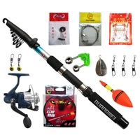 2.7 Meters Telescopic Fishing Rod Set Carbon Fishing Rods with Reel Line, 11 Accessories / Set , Free Shipping