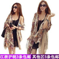 free shipping 2013 spring and autumn female bali yarn scarf vintage bohemia large thermal silk scarf cape
