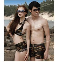 2011 swimwear lovers Camouflage male swimming trunks 12336