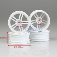 Free shipping 4pcs White Plastic  Wheel Hubcaps  for  1:10 1/10 RC On Road Model Car
