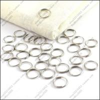 500pcs/lot diy accessories 10mm key ring key ring 10 mm small circle steel wire