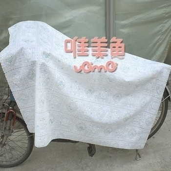 Aesthetic fish roll pvc plastic fabric long furniture dust cover outdoor Ventile table towel cover 138 10