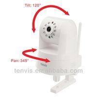 Free Shipping  WIFI PTZ  H.264 Megapixel Wireless HD IP Camera IPROBOT3 Web Camera Dropbox Storage, SD Card Storage