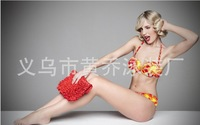European and American version the bikin size chest MM gather the female swimsuit sexy bikini spot wholesale DM037