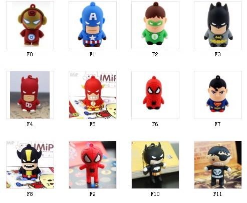 New cartoon usb gift 50pcs/lot usb flash drive pen drive /usb memory stick free shipping (mix to buy)(China (Mainland))