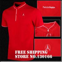 New stye 2013/14T-shirt ,  Paris Est Magique red colour cotton Polo Shirt.Thai quality .Free shipping