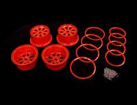 baja 5b series metal wheel rim set  silver orange