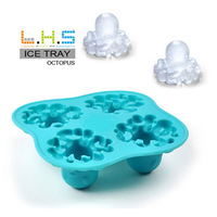 2013 New Hot sale Cool Ice Cubes Silicone Mold Octopus Shape Bar Party Summer Beach Drink Coke Chocolate Craft Free Shipping